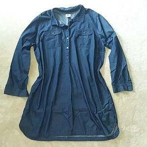 Women's Old Navy Chambray Shirt Dress XXL